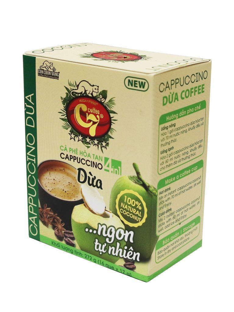 Cà Phê Dừa Hòa Tan 4In1 Cappuccino Food Co., Ltd