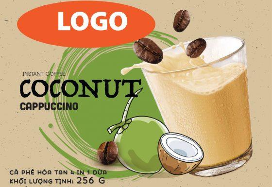 Dịch Vụ Gia Công Cà Phê Dừa Hòa Tan 4In1 Cappuccino Toàn Quốc
