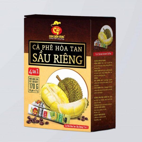 Dịch Vụ Gia Công Cà Phê Hòa Tan Sầu Riêng 4In1 Cappuccino Toàn Quốc.