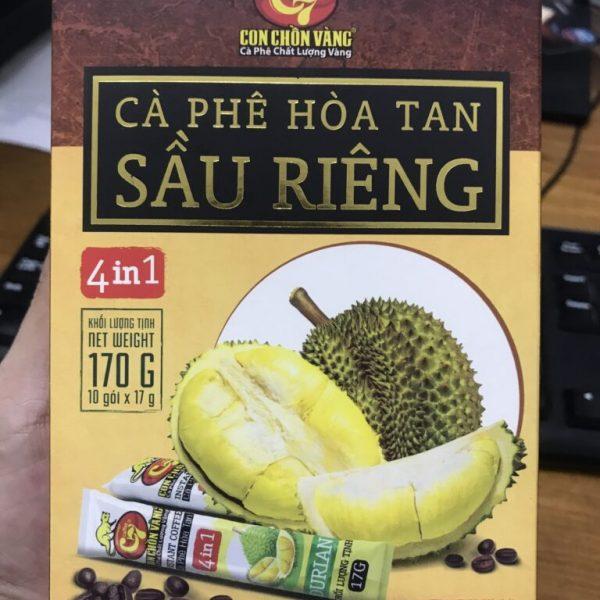 Gia Công Cà Phê Hòa Tan Sầu Riêng 4In1 Cappuccino, Trọn Gói, Toàn Quốc.